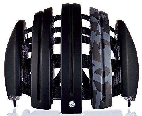 Fahrradhelm Foldable GTE Unisex black mat camo 61-64