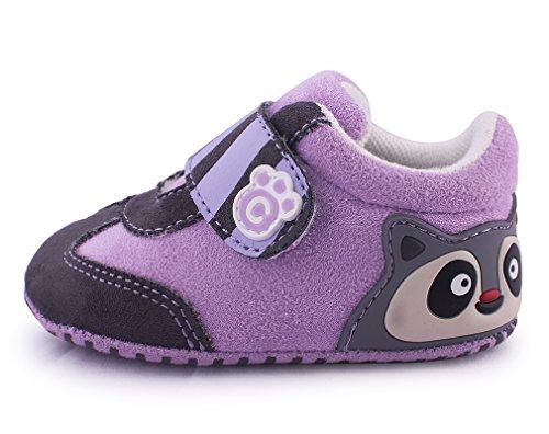 cartoonimals Babyschuhe Mädchen Jungen Neugeborene Weiche Rutschsicheren Baby Kinder Schuhe Boots Racoon Purple #19