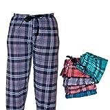 Dazoriginal Damen Pyjamahose Schlafanzughose Schlafhose Lang Baumwolle Viollet L