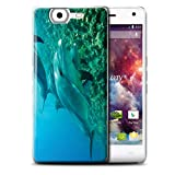Phone Case for Wiko Highway 4G Sea Life Dolphins Deep Sea