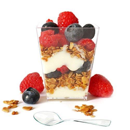 Lane Dessert (Professional Grade 5 oz Clear Plastic Dessert Cups with Mini Spoons by Market Lane by Market Lane)