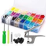 Druckknöpfe T5 Luxebell 300pcs DIY Kunststoff runden Tasten mit Zangen - 20 Farben