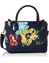 Joules Day To Day French Navy Posy Floral Printed Canvas Bag