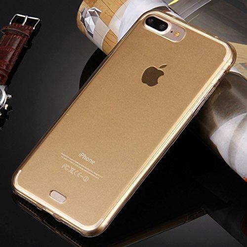 Hülle für iPhone 7 plus , Schutzhülle Für iPhone 7 Plus 0.75mm doppelseitiger ultradünner transparenter TPU Schutzhülle ,hülle für iPhone 7 plus , case for iphone 7 plus ( Color : Rose Gold ) Gold