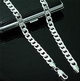 Xizi Mode 4MM 925 Sterling Silber Kette Männer Halskette 20-26 Zoll