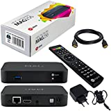 MAG 256w1 Original HB-DIGITAL IPTV SET TOP BOX avec WLAN (WiFi) intégré 150Mbps Multimedia Player Internet TV IP Receiver + HB Digital HDMI câble (HEVC H.256 support)