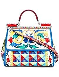 Dolce E Gabbana Mujer BB6235AC597HW672 Multicolor Cuero Bolso De Mano