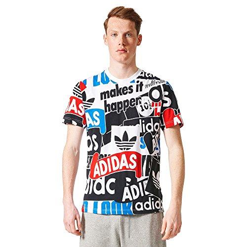 adidas Herren Aop Loud T-Shirt White/Blanco