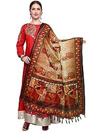Mrinalika Fashion Cotton Silk Digital Print Dupatta (Dupattas For Womens _Salwar Suit Dgdpt12_Multi-Coloured_Free...