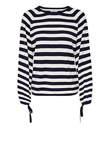 Only Onlyucca L/S Pullover Knt, Pull Femme Multicolore (Night Sky Stripes: W Cloud Dancer)