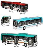 Unbekannt Stadtbus / Linienbus Bus - Irisbus Citelis - Auto Modell Maßstab 1/43 - Türen Lassen Sich Öffnen - für Kinder / Deko - zum Spielen aus Plastik / Kunststoff - ..