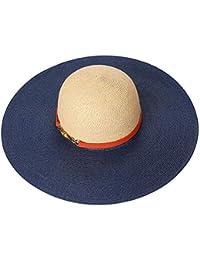GSAYDNEE Sombrero de Paja de ala Ancha para Mujer Flodable Roll Up Cap  Sombreros de Playa e945e1c16c7