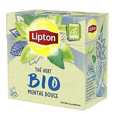 Lipton Bio Thé Vert Menthe Douce Label Rainforest Alliance
