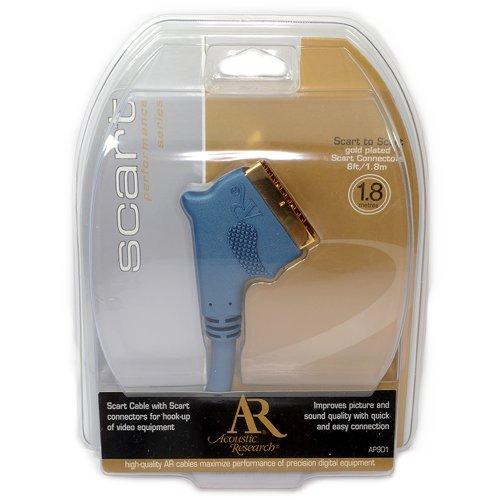 Acoustic Research Performance Plaqués Or Plaqué Péritel câble Cordon 1,8 m Acoustic Research-kabel Video-adapter