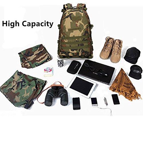 Aidonger Militärischer Taktischer Wanderrucksack 3 Tage Assault Pack Molle Camping Rucksack + Taktischer Patch Armee Grün
