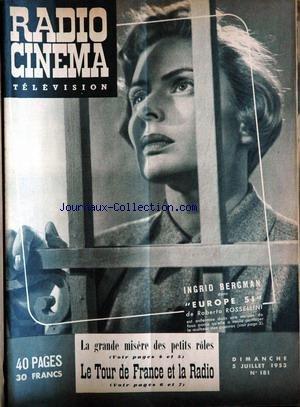 RADIO CINEMA TELEVISION [No 181] du 05/07/1953 par COLLECTIF