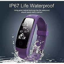 DMMW Correa de Silicona Deportes Pulsera Inteligente Reloj Inteligente a Prueba de Agua (Color :
