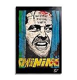 Arthole.it Jack Torrance da The Shining (Stephen King, Kubrick) - Quadro Pop-Art Originale con Cornice, Dipinto, Stampa su Tela, Poster, Locandina, Horror