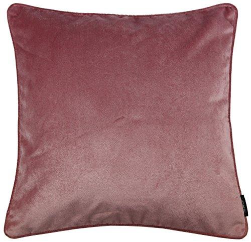 Deko Kissenbezug für Zierkissen, Kissenhülle in luxuriösem Designer Plüsch in Rose Pink, einfarbig, weicher Samt. Aus der Matt Velvet-Kollektion von McAlister Textilien, 60cm x 60cm (Design Interior Teal)