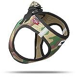 CURLI Brustgeschirr Plush Vest AIR-MESH camouflage für Hunde L (46 - 52 cm)