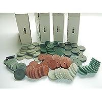 Portal Cool Surtido de Laboratorio Dental Pulido Ruedas Burs Pulidores de Silicona 4 Colores 100 unids