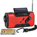 IntiPal Multifunktion Solar Dynamo Kurbel Radio mit 2000mAh Power Bank