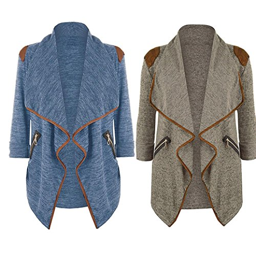 Kavitoz Hot Sale,Womens Knitted Casual Long Sleeve Tops Cardigan Jacket Outwear Plus Size by