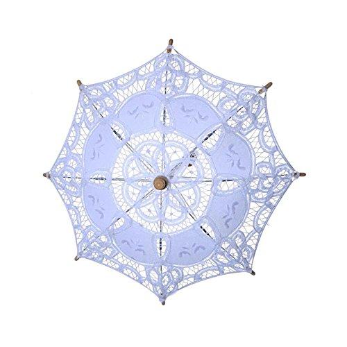damai-shopSonnenschirm Spitze Spitze Sonnenschirm Regenschirm FüR Braut Brautjungfer Hochzeit Fotografie Prop, B, 60*52cm (Sonnenschirm Spitze Rüschen)