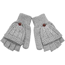 huichang Women Flip Twist Warmer Winter Fingerless Gloves