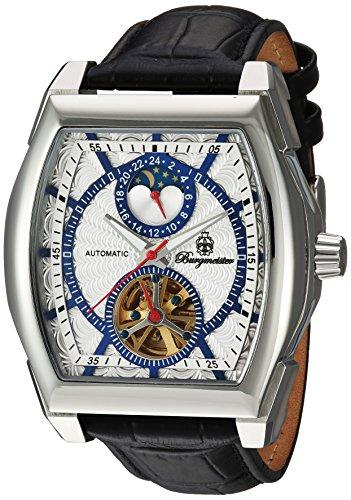Burgmeister Armbanduhr für Herren mit Analog Anzeige, Automatik-Uhr und Lederarmband - Wasserdichte Herrenuhr mit zeitlosem, schickem Design - klassische Uhr für Männer - BM222-112 Rockford