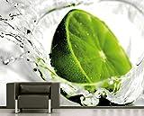 Selbstklebende Fototapete - Limette - 150x100 cm - Tapete mit Kleber – Wandtapete – Poster – Dekoration – Wandbild – Wandposter – Wand – Fotofolie – Bild – Wandbilder - Wanddeko