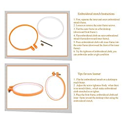 Nalmatoionme Plastic Embroidery Ring Hoop Cross Stitch Hoop Tambour Embroidery Circle (Random Color)