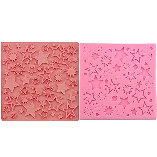 Star Galaxy Sky Christmas Pattern-Textur, 3D-Silikon-Schokoladen-Soap-Kuchen, Fondant Cupcake, Ton, Harz, Wachs, Schimmel, Gips-Käse-Cookies -
