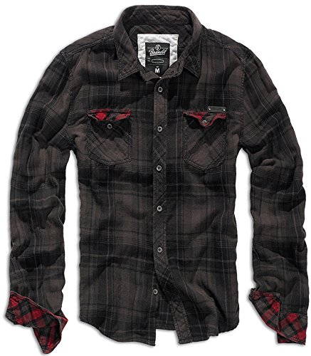 Brandit Checkshirt Duncan Brown-Black XXL -