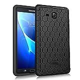 Fintie Samsung Galaxy Tab A 7.0 Hülle - [Bienenstock Serie] Leichte Rutschfeste Stoßfeste Silikon Schutzhülle Tasche Case Cover für Samsung GALAXY Tab A 7.0 SM-T280 / SM-T285 (7 Zoll) Tablet-PC, Schwarz