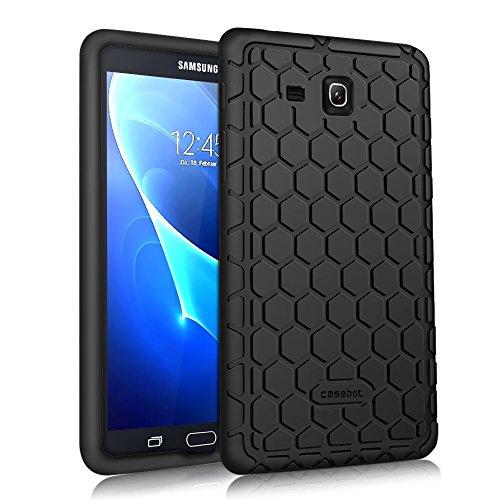 Fintie Silikon Hülle für Samsung Galaxy Tab A 7.0 SM-T280 / SM-T285 (7 Zoll) Tablet-PC - [Bienenstock Serie] Leichte Rutschfeste Stoßfeste Silikon Schutzhülle Tasche Case Cover, Schwarz (Tablet-cover Für Samsung 7)