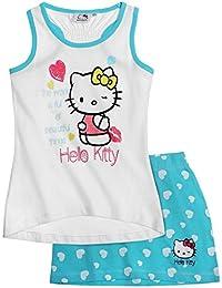 Hello Kitty Mädchen Tank Top mit Rock - blau