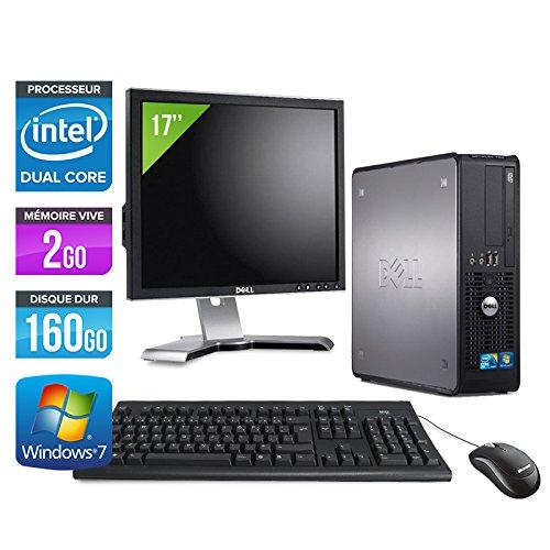 Dell Optiplex 380SFF + Display 17'-Computer Desktop--Grau (Intel Celeron E3300/2.50GHz, 2GB RAM, 160GB Festplatte, DVD-Player, Windows 7Professional)