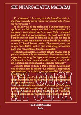 Ni ceci, ni cela : 24 entretiens du 20-12-1978 au 20-11-1980 par Nisargadatta Maharaj