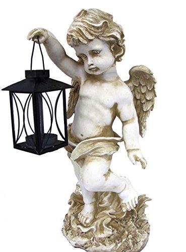 Engel mit Laterne, Windlicht, Deko für Innen & Aussen
