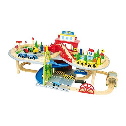 Small foot company - 1559 - Circuit De Trains Miniatures Et Rail - Terrain - Chemin De Fer À Deux Niveaux