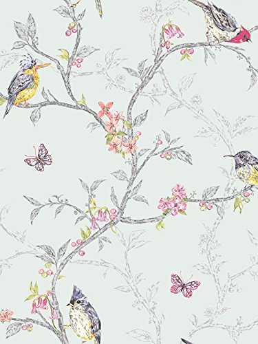 tapisserie-turquoise-leger-clair-98083-oiseaux-boutons-fleurs-papillons-pharses-branches-arbres-hold