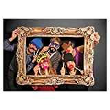 Toy - Photo Booth Foto Requisite mit goldenem Bilderrahmen aus Pappe