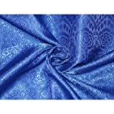 Seide Brokat Stoff royal blau Farbe 111,8 cm by the Yard