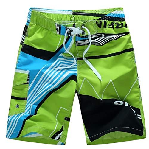 KPILP Herren Boxer Boxershorts Super Bequem Retroshorts Sportswear Unterwäsche Shorts Badehose Quick Dry Beach Surfing Laufen Schwimmen Watershort( Grün,2XL