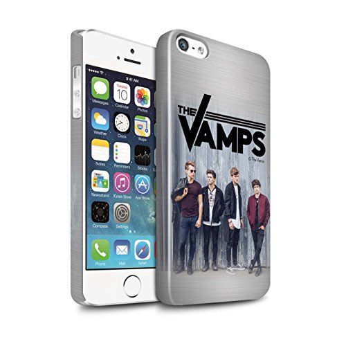 Offiziell The Vamps Hülle / Glanz Snap-On Case für Apple iPhone SE / Pack 6pcs Muster / The Vamps Fotoshoot Kollektion Gebürstetes