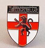 Metal Enamel Pin Badge Brooch Scooter Lambretta England St. George Shield