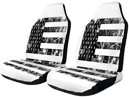 Vintage nero bandiera americana coprisedile auto impermeabile resistente seggiolino auto protezione universale confortevole seggiolino auto pad tappetini in poliestere cuscino a secco rapido