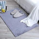 HEQUN Alfombra De Piel De Conejo Artificial,Antideslizante Lujosa Suave Lana Artificial Alfombra para salón Dormitorio baño s