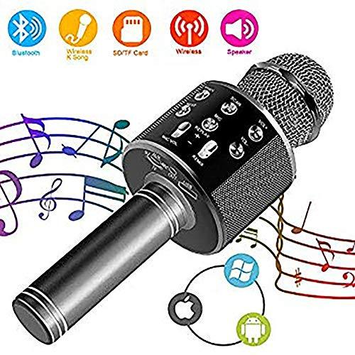 QYHSS Drahtloses Karaoke, Mikrofon, tragbar drahtlos dynamisch Mikrofon, 4.1 Lautsprecher für die Aufnahme von Sprach und Gesang, für Erwachsene und Kinder, Party im Freien, KTV